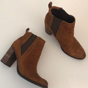 Franco Sarto Suede Ankle Boots EUC